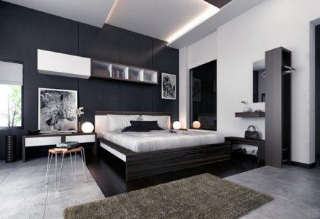 غرف نوم مودرن جديدة باللون الأسود بدرجاته picture_1497240690_875.jpeg